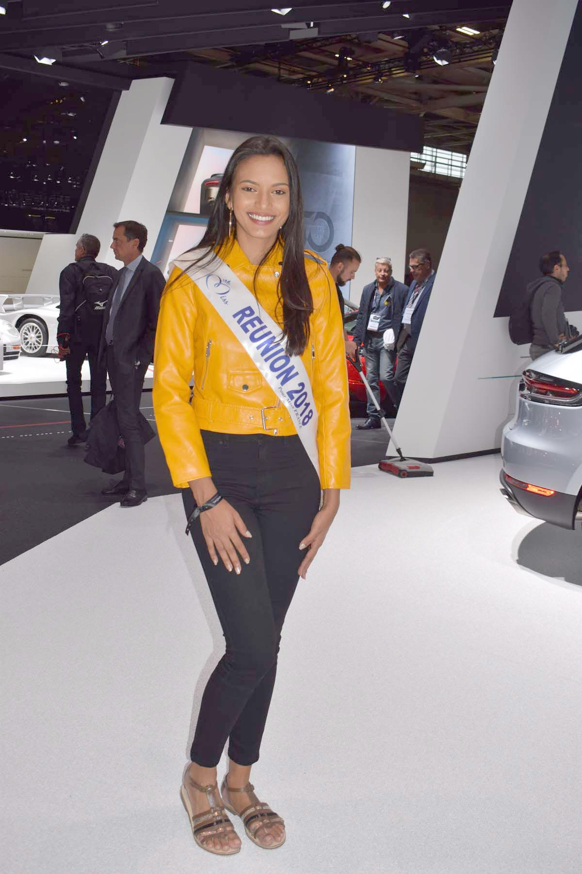 Miss Réunion 2018 au Mondial de l'Auto à Paris