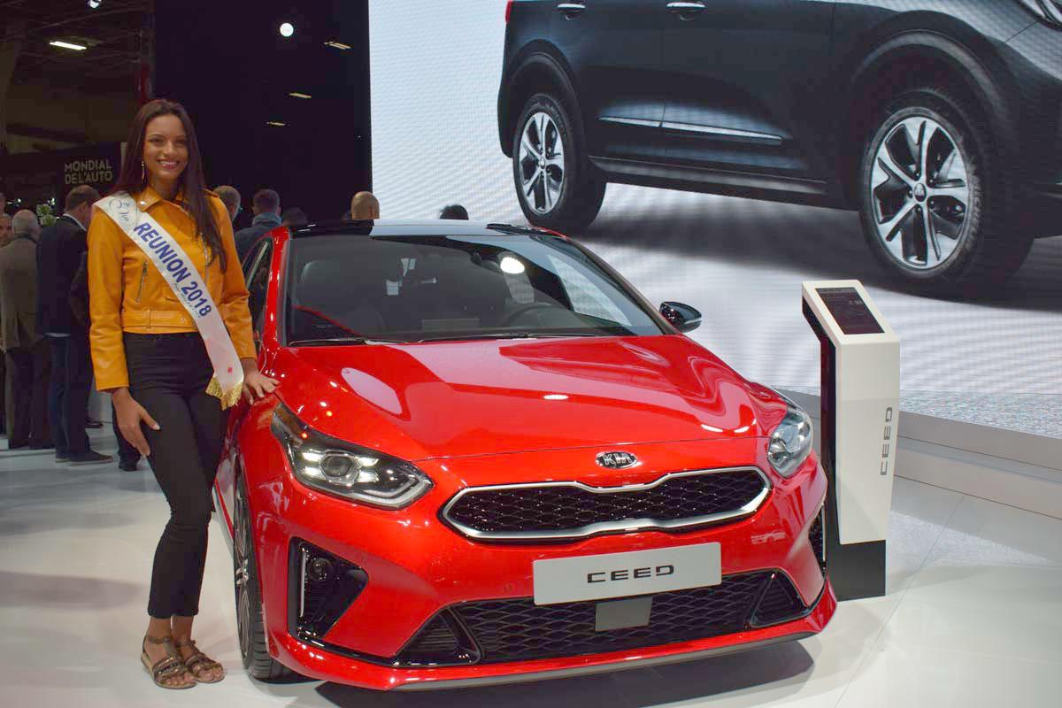 Sur le stand de Kia, partenaire de Miss Réunion 2018