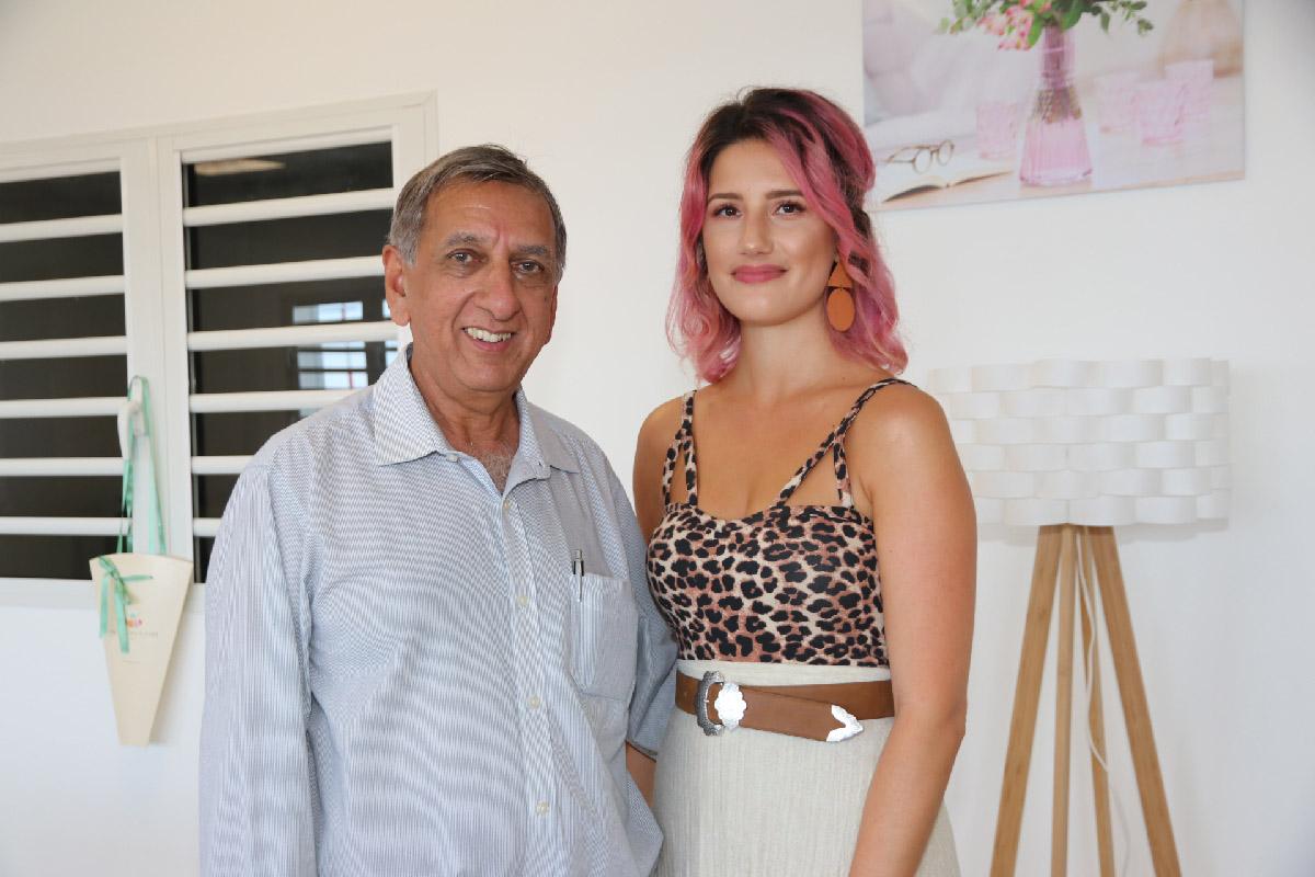 Aziz Patel et Régina Pisano