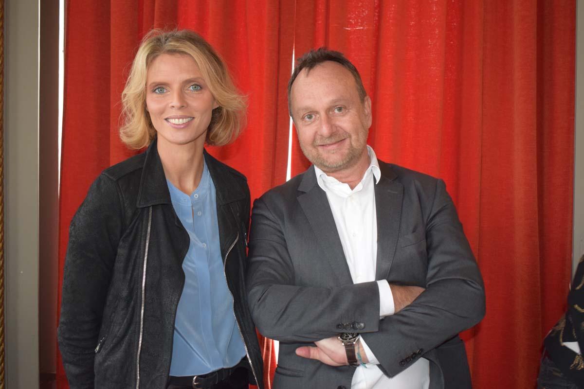 Sylvie Tellier, directrice générale de Miss France Organisation, et Nicolas Coppermann, président du groupe EndemolShine France