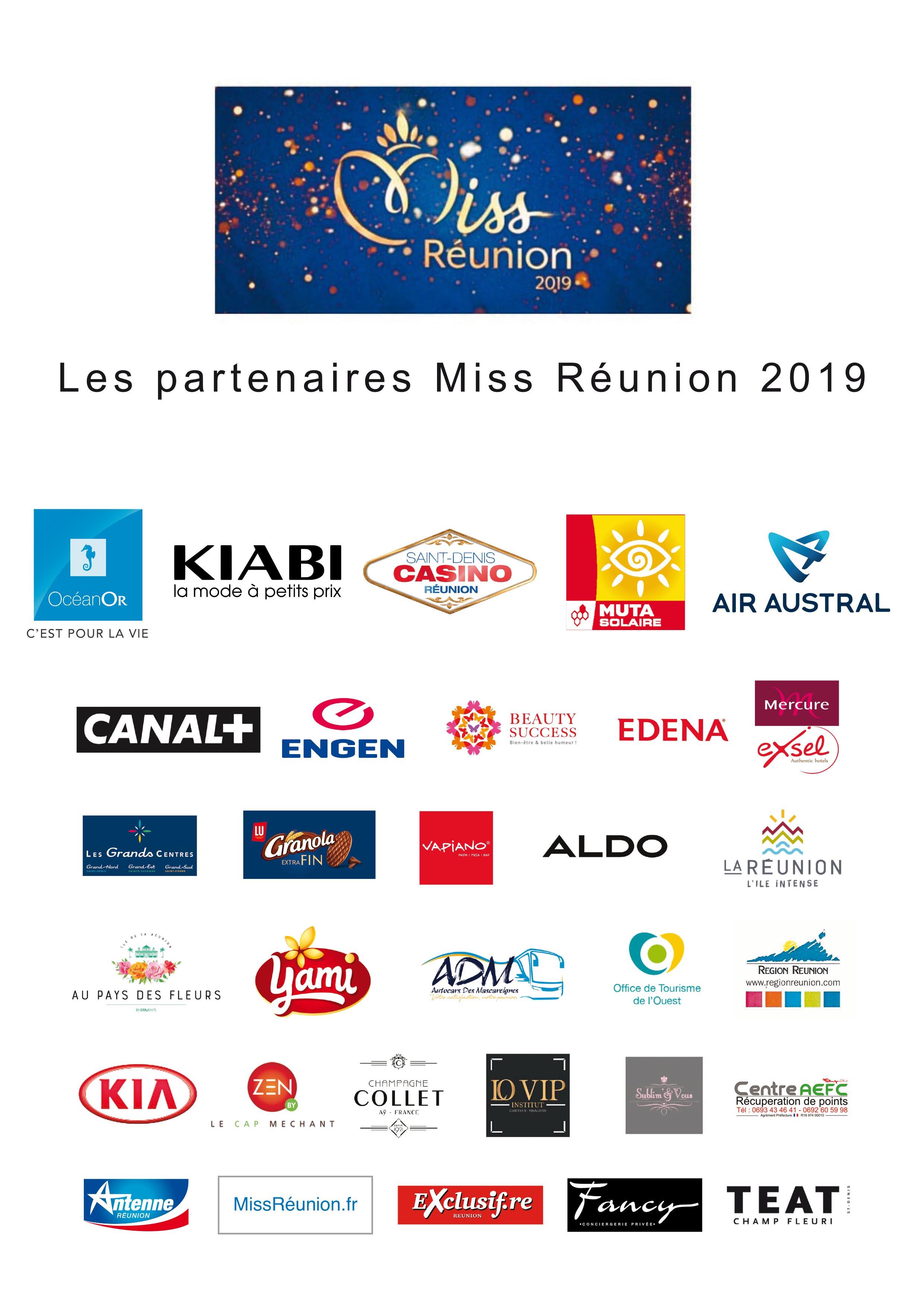 Les Partenaires Miss Réunion 2019 !