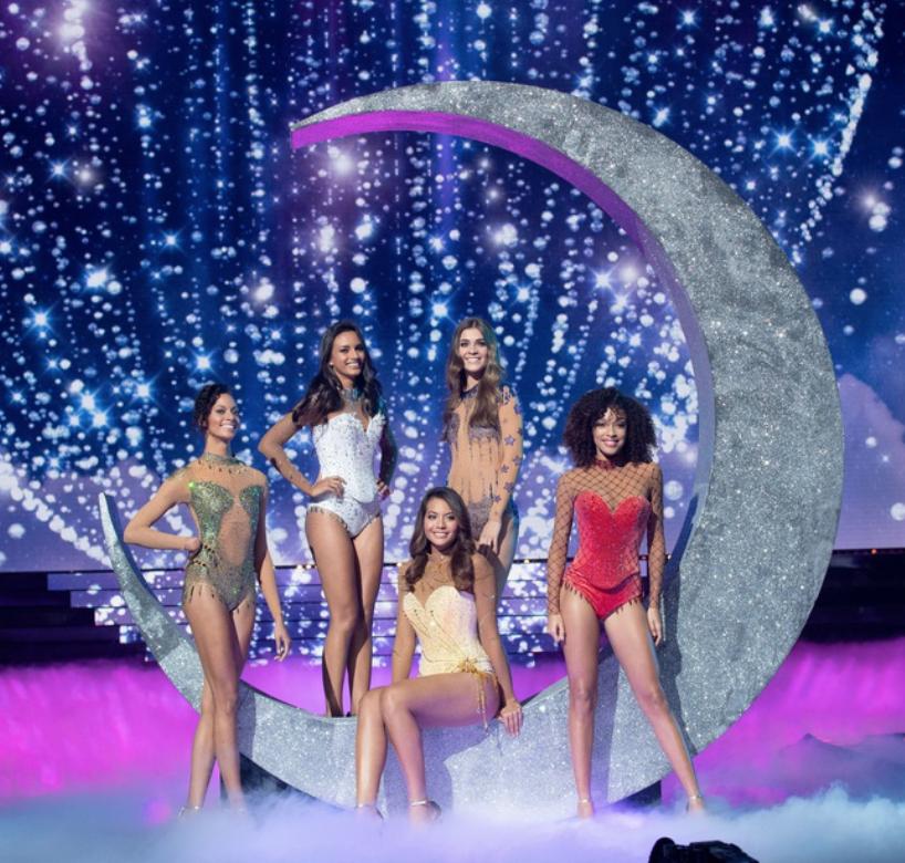 Miss France 2019 et ses dauphines à Lille en décembre 2018