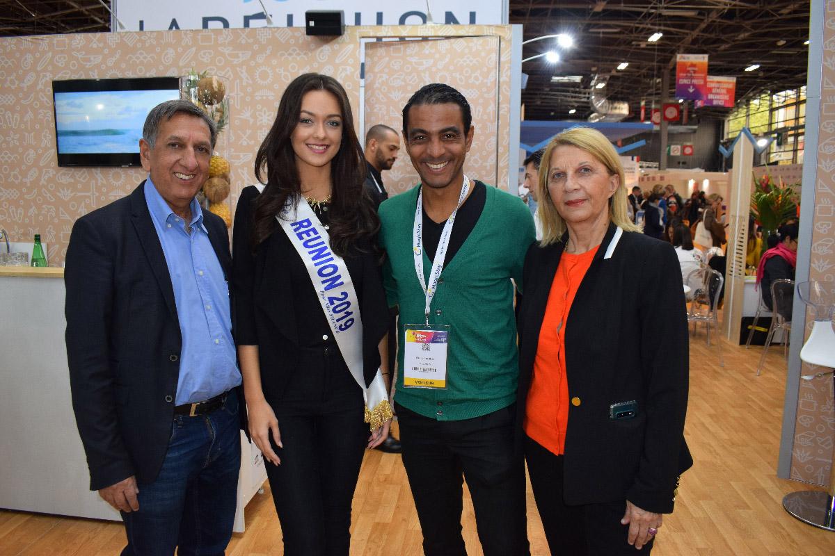 Aziz Patel, Morgane Lebon, Fabrice Abriel, ex-footballeur pro devenu consultant, et Claudine Wolff
