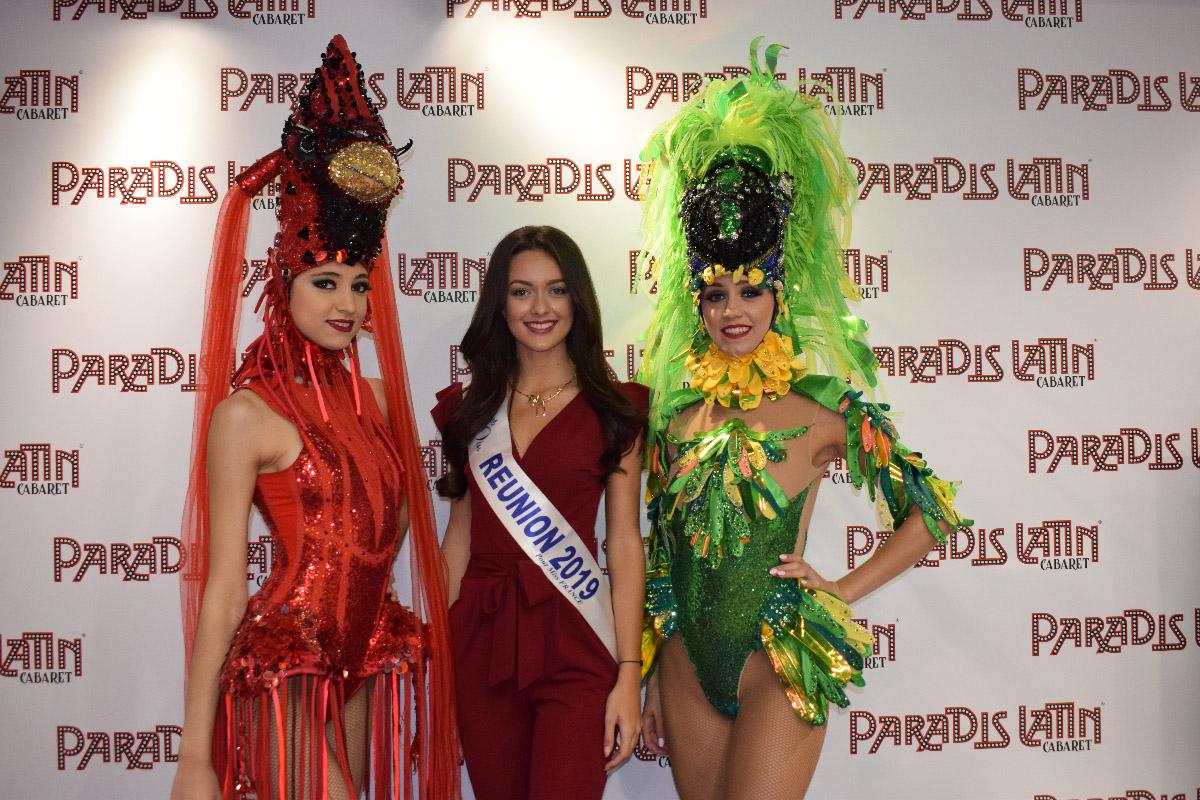 Avec les danseuses du Paradis Latin