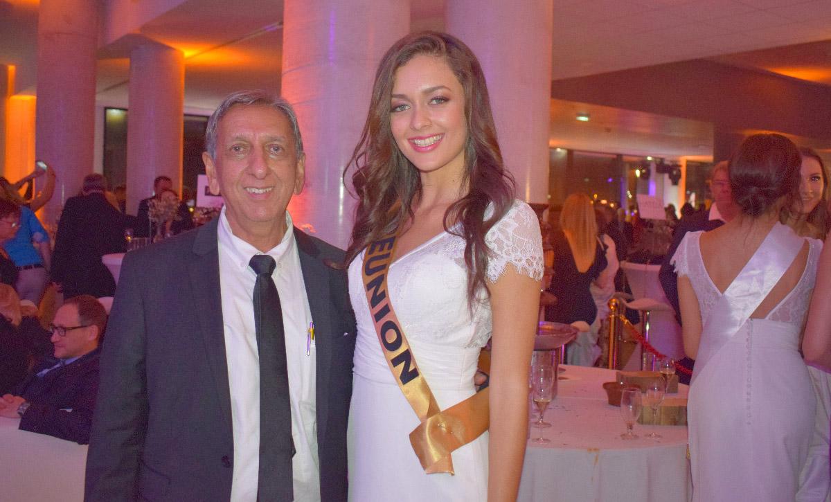 Aziz Patel, délégué Miss France à La Réunion, et Morgane Lebon, Miss Réunion 2019