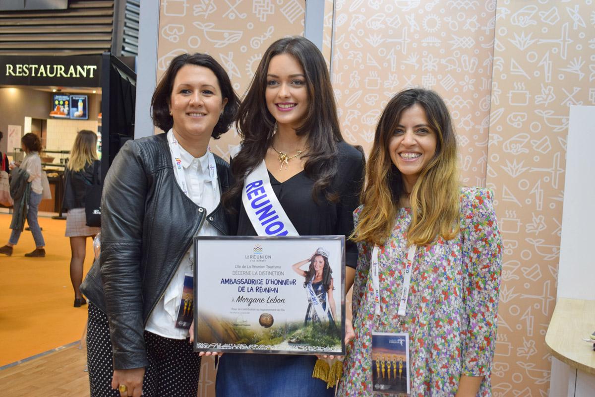 Morgane Lebon, Miss Réunion 2019, et Sarah Lhéritier, directrice marketing et communication de l'IRT