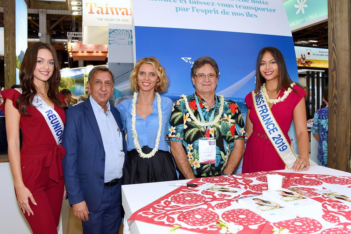 Sur le stand de Tahiti