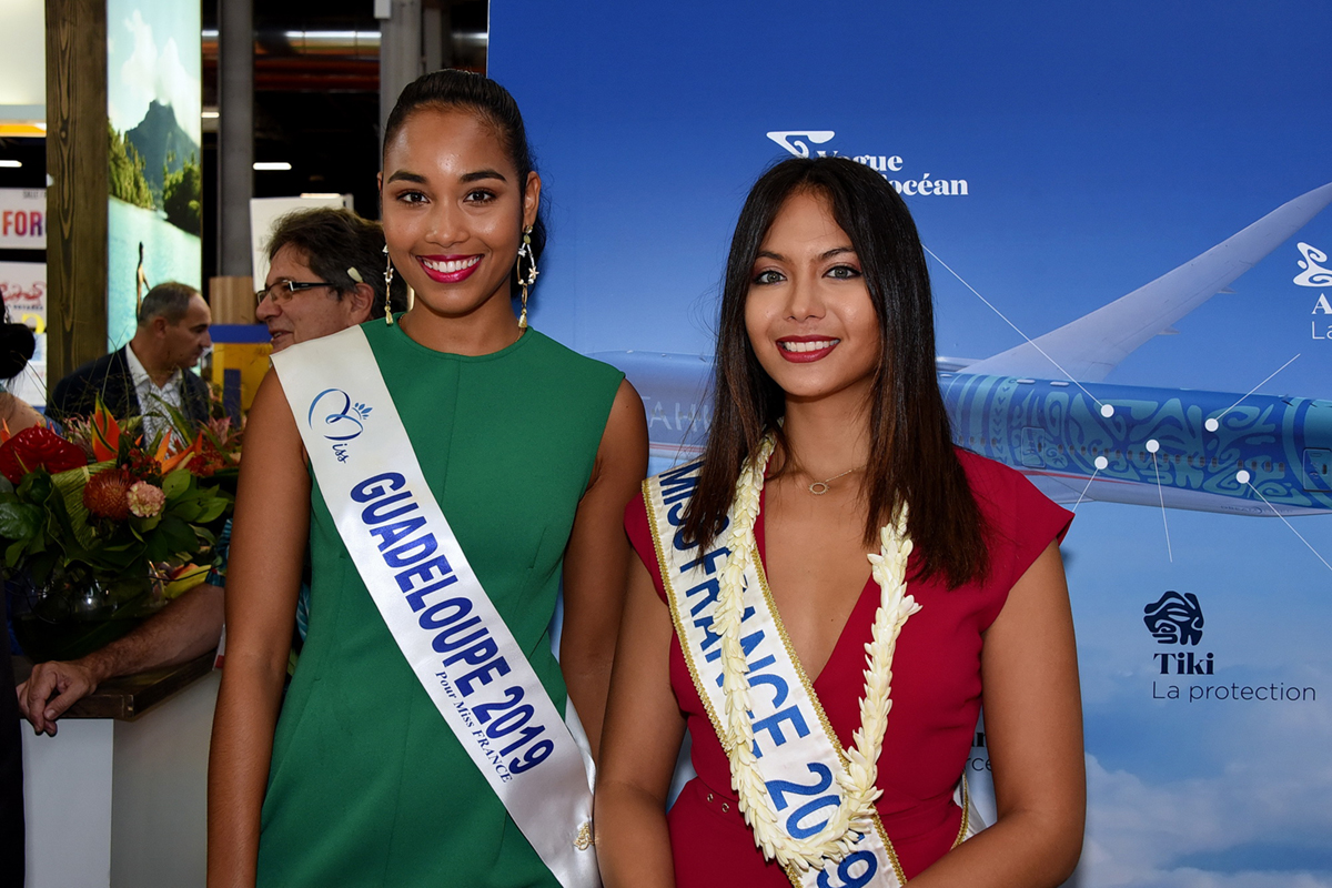 Clémence Botino, Miss Guadeloupe, et Vaimalama Chaves