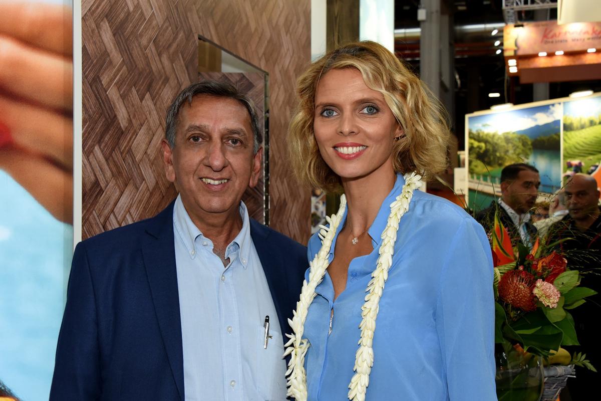 Aziz Patel, délégué Miss France, et  Sylvie Tellier, directrice générale Miss France Organisation