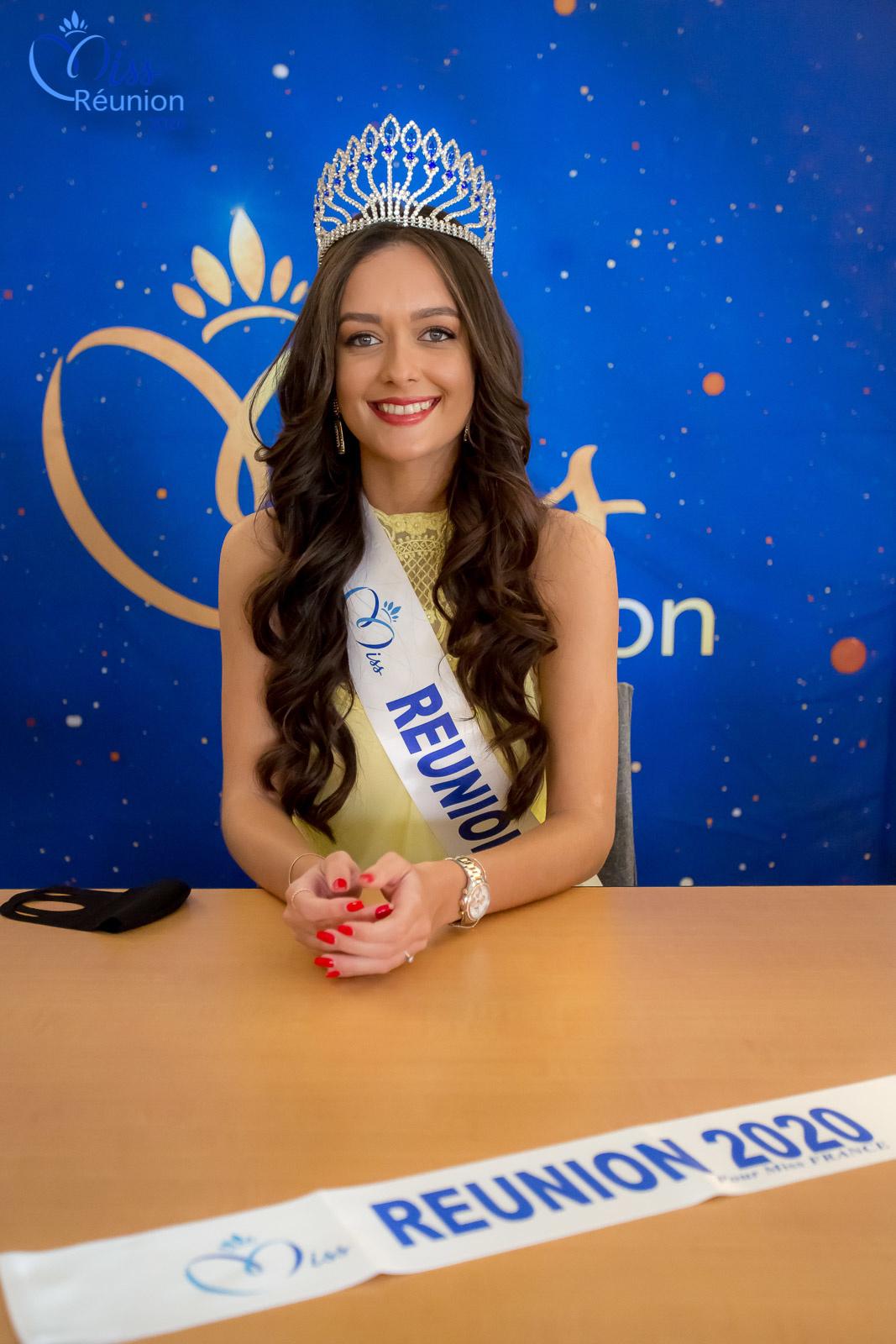 La belle Morgane Lebon, l'écharpe Miss Réunion 2020 est prête!