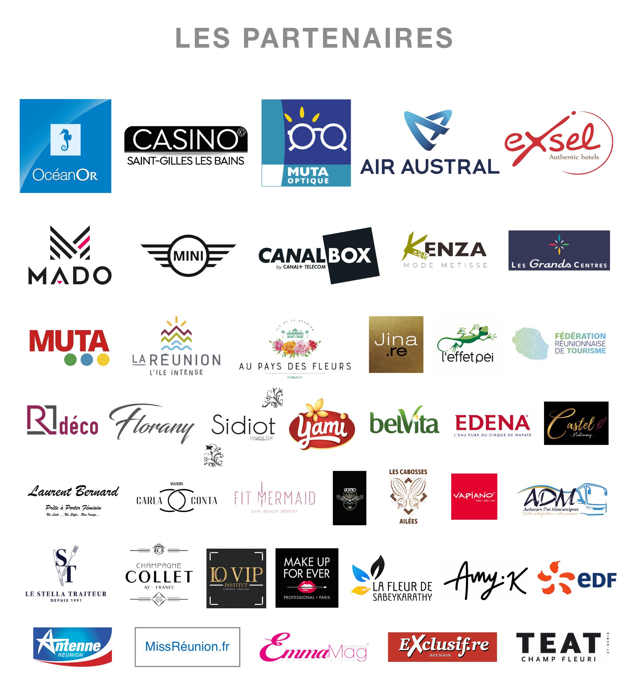 Les Partenaires Miss Réunion 2021