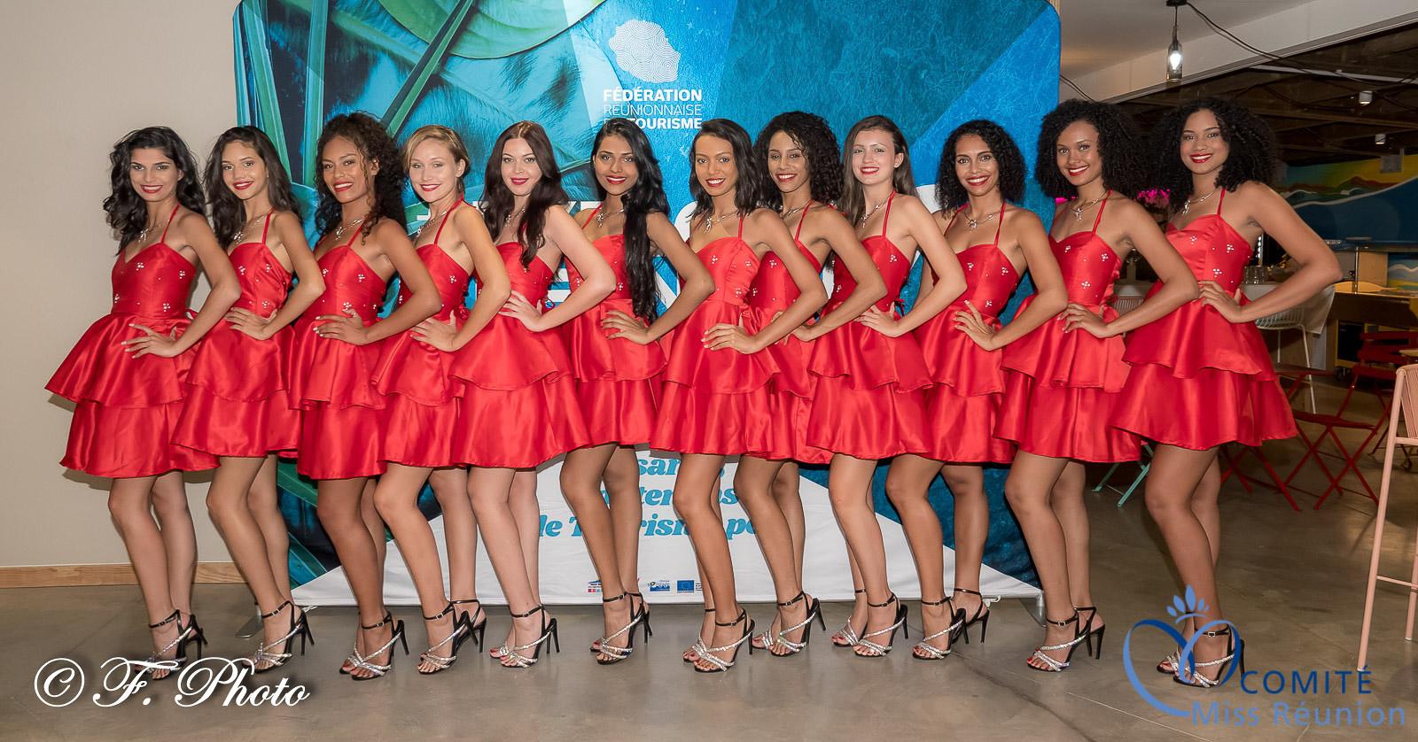 Les 12 candidates Miss Réunion
