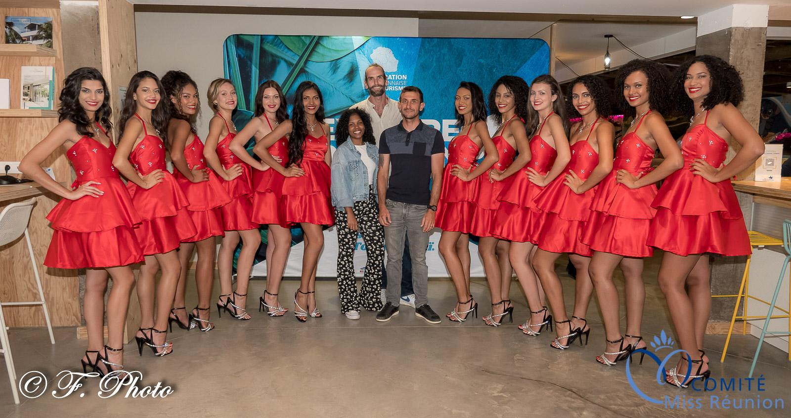 Avec l'équipe d'Antenne Réunion, Virginie Tsiao, Romain Clouet et Charly