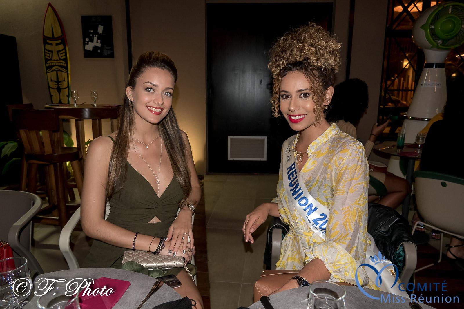 Morgane Lebon, Miss Réunion 2019, et chaperonne des candidates 2021, et Lyna Boyer, Miss Réunion 2020 et 5ème dauphine Miss France 2021