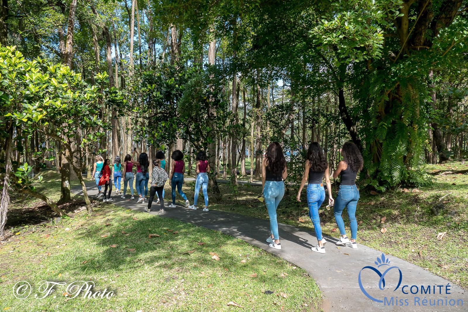Une balade fort appréciée par les candidates Miss Réunion 2021