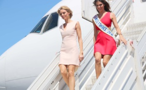 Arrivée des candidates à l'élection de Miss France 2017 à La Réunion
