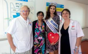 Ambre N'Guyen fête la Saint-Valentin avec les enfants malades