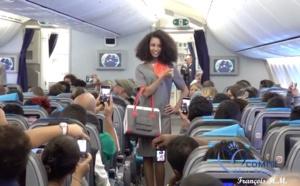 Défilé des candidates à bord de l'avion de Air Austral: la vidéo