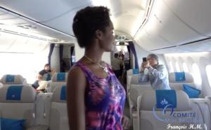 Vidéo du défilé Effet péi à bord de l'avion de Air Austral