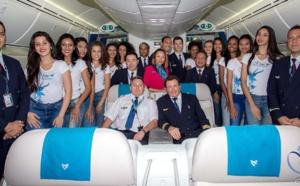 Les 12 candidates de retour de Bangkok avec Air Austral