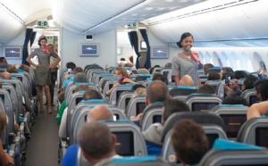 Défilé des 12 candidates dans l'avion Air Austral: les photos