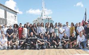 Miss Réunion marraine du bateau militaire Le Champlain