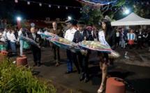Dépôt de gerbes des officiels dont Miss Réunion